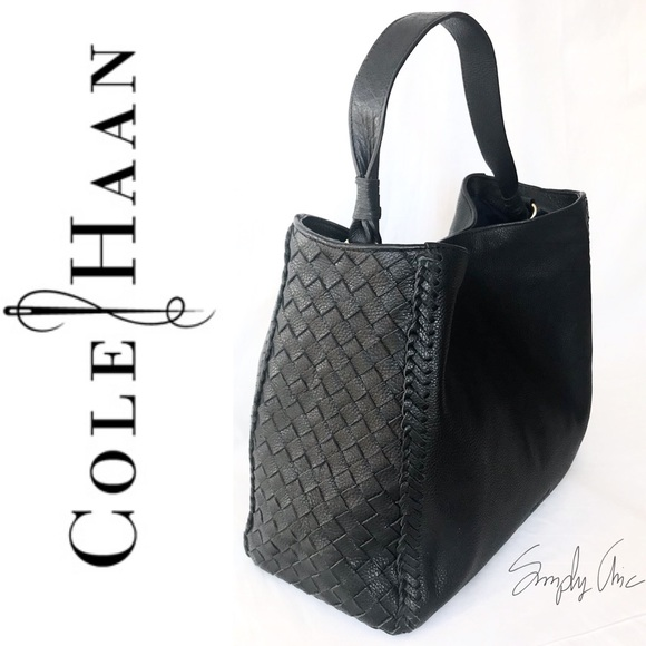 af41183a7d682 New Cole Haan genuine leather Dillan Hobo black